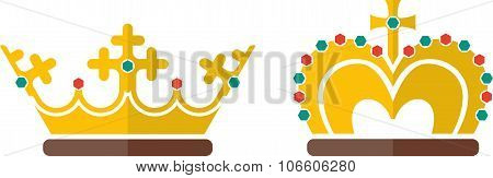 Queen and king`s crowns