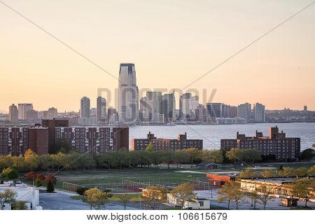 Jersey City At Sunset