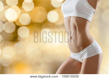 Slim slimming fit fitness underwear stomach abdomen poster