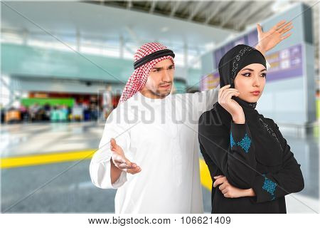 Muslim tension woman islam confused argue understand poster