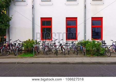 BONN, GERMANY - SEPTEMBER 18, 2014. View of the building in Bonn. Bonn is a city on the banks of the Rhine and northwest of the Siebengebirge in the German state of North Rhine-Westphalia