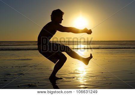 Beach Air Squats