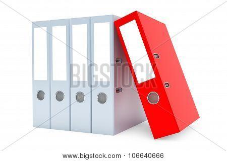 Blank Achive Office Binders