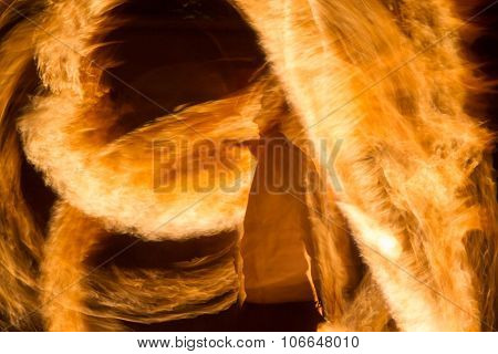 silhouette of a man on fire