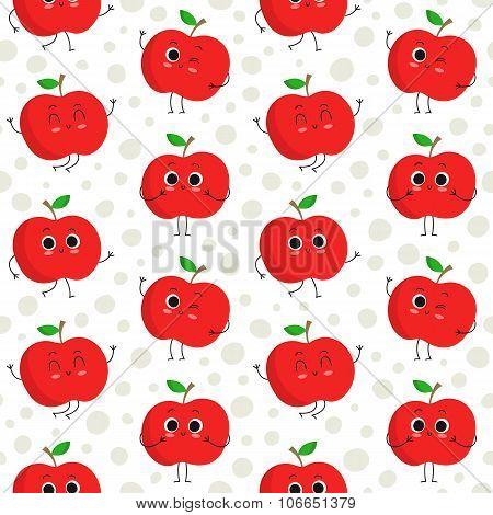 Apples, Vector Seamless Pattern