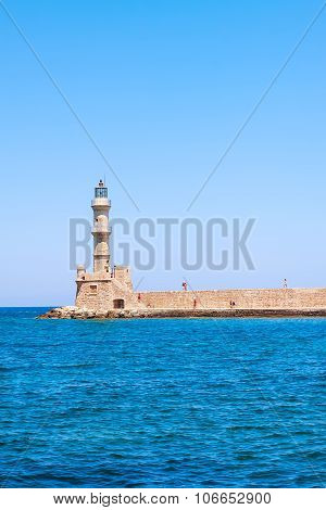Greece Crete Chania the city with a view of part of the sea in summer