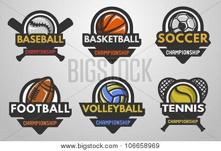 Set of sports logos.