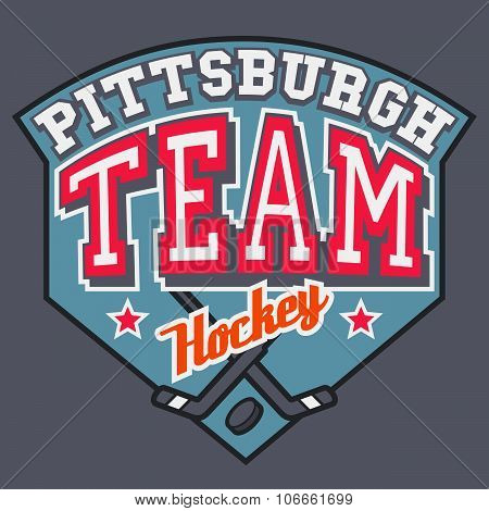 Pittsburgh Hockey Team tipographic design for poster or t-shirt poster