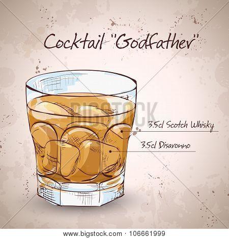 Alcoholic Cocktail Godfather