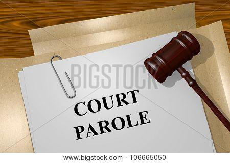 Court Parole Concept