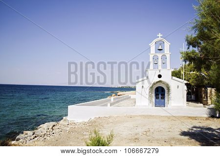 a greek church in Aegina island