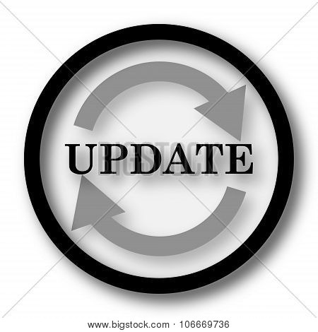 Update icon. Internet button on white background. poster