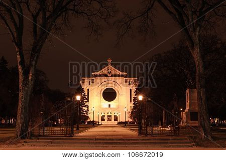 St. Boniface Cathedral At Night