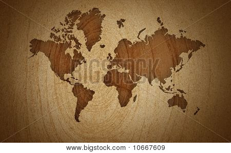 World Map Old Colors Background