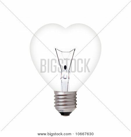 Light Bulb In Heart Shape