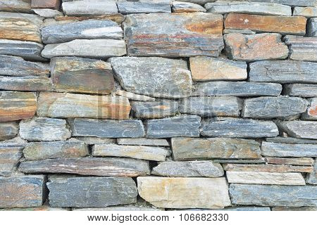 Rough Raw Stone Bricks Ancient Wall