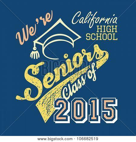 California High School Seniors T-shirt