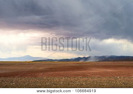 Emergence Of Dust Storms In The Desert Of Salinas Grandes, Northern Argentina