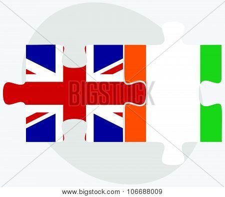 United Kingdom And Cote Divoire Flags