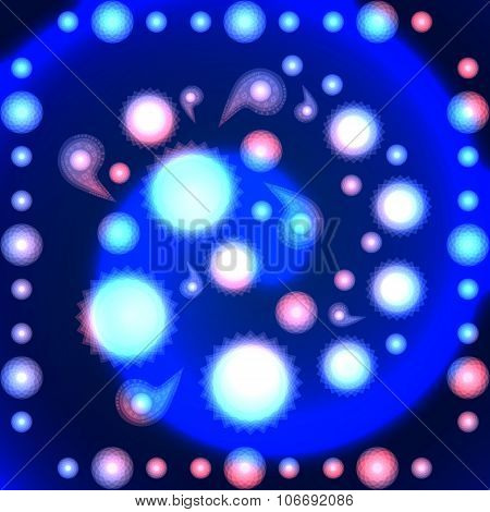Abstract shining pattern on spiral gradient background