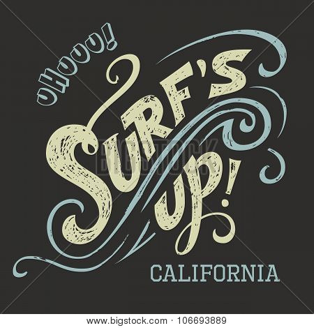 Surf's Up Hand Lettering Tee