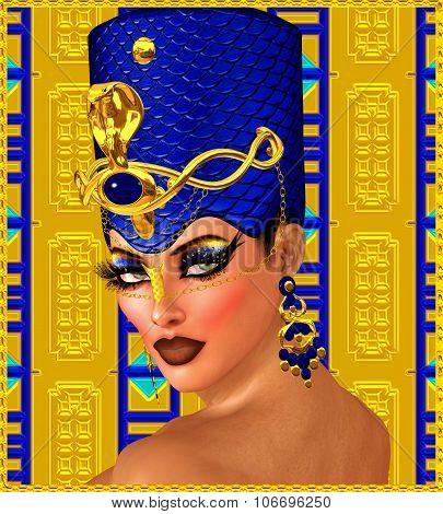 Cleopatra or any Egyptian Woman Pharaoh Fantasy Art.