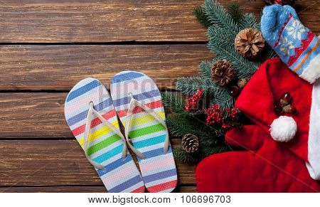 Slippers And Christmas Things