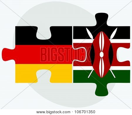Germany And Kenya Flags