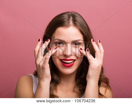 Woman Applying An Eye Cream
