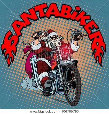 Santa Claus biker motorcycle Christmas gifts