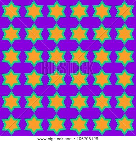 Tileable yellow green purple starlit pattern