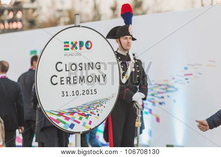 Carabinieri At Expo 2015 Closing Ceremony In Milan, Italy