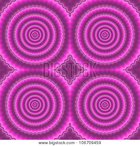 Abstract pink purple fine monochromatic pattern composed of concentic circles elements poster