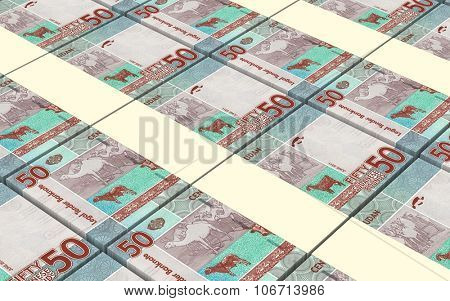 Sudanese pounds bills stacked background. Computer generated 3D photo rendering. poster