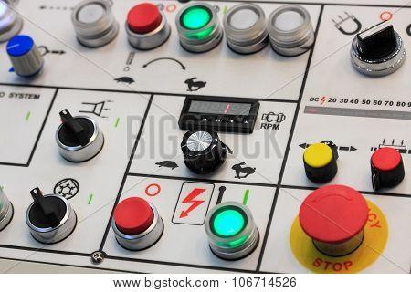 Control Panel Of Turning Machining Center