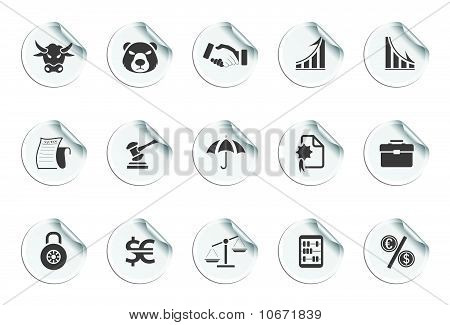 Financial Icons | Sticky series