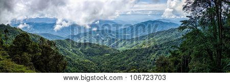 Panorama Of Landscape Mountain View Forest Of Thailand