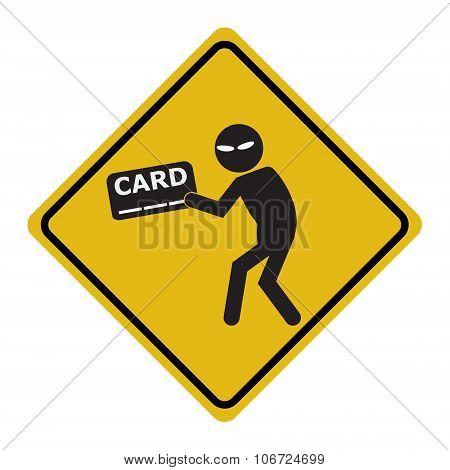 Hacker, Internet Security Concept. Thief Sign