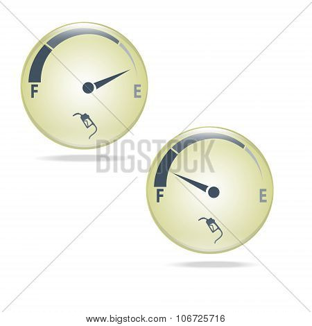 Fuel Gauge, Gas Meter Illustration