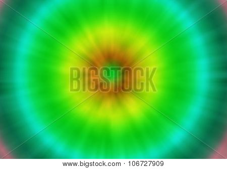 Green And Yellow Tie Dye Retro Background
