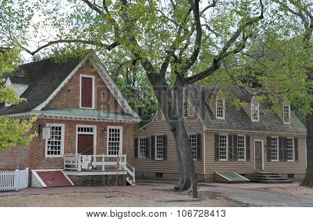 WILLIAMSBURG, VA - SEP 6: Colonial Williamsburg in Virginia, as seen on Sep 6, 2015. The restored town is a living-history museum and a major attraction for tourist.
