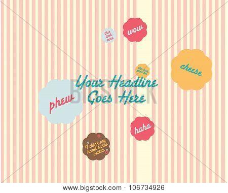 Bubble tag design template