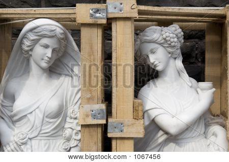 Statue In Crate