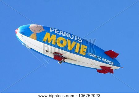 LOS ANGELES - NOV 1:  Metlife Peanuts Blimp at the