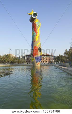 The Statue Woman Bird, Joan Miro. Barcelona