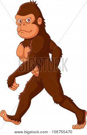 Cartoon Sasquatch walking
