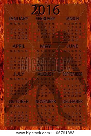American Calendar 2016