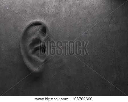 Ear on wall concept