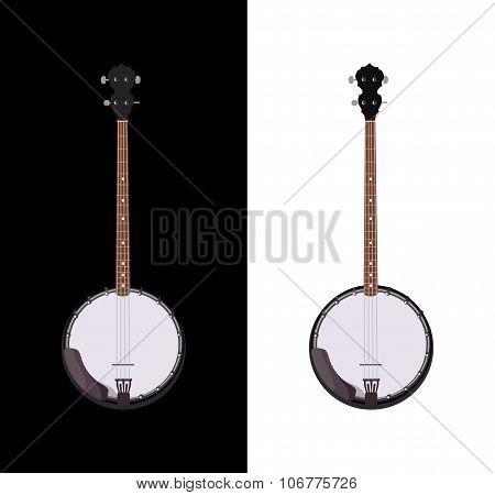 Banjo Isolated Folk Instrument