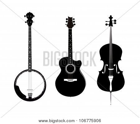 Banjo, Acoustic Guitar And Banjo